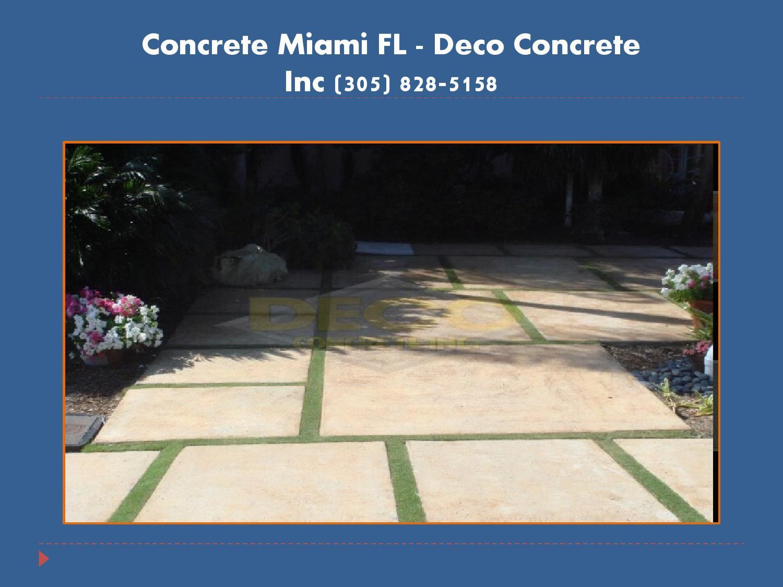 Issuu concrete miami fl deco concrete inc 305 828 5158 by pavers miami - Cd concreet ...