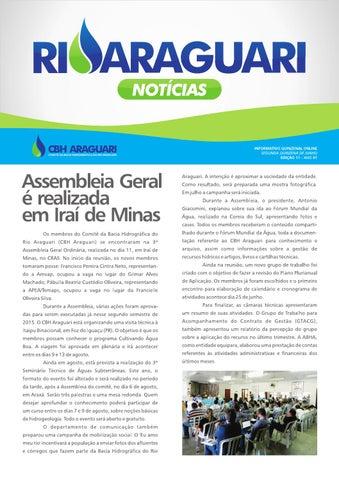 Informativo online - Rio Araguari Notícias - 11ª edição