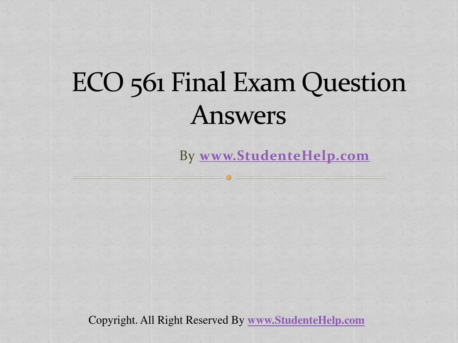 ECO 372 Final Exam Study Answer Sheet – Part 5