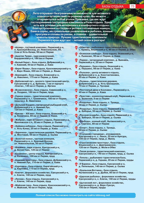 пермский центр отдыха и туризм
