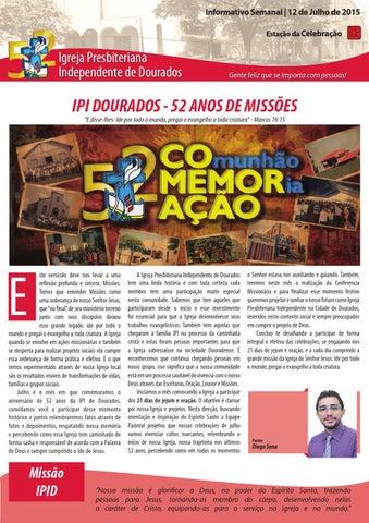 Boletim Informativo do dia 12 de julho de 2015