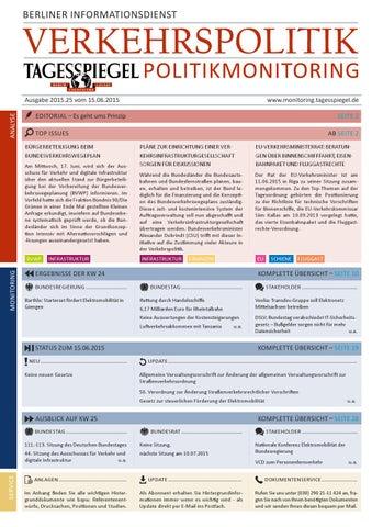 Tagesspiegel Politikmonitoring zur Verkehrspolitik
