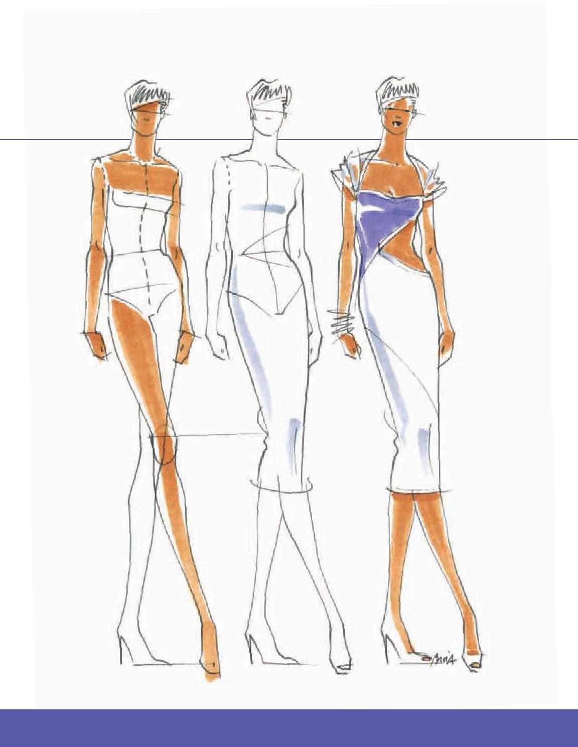 How to draw figures for fashion design 17