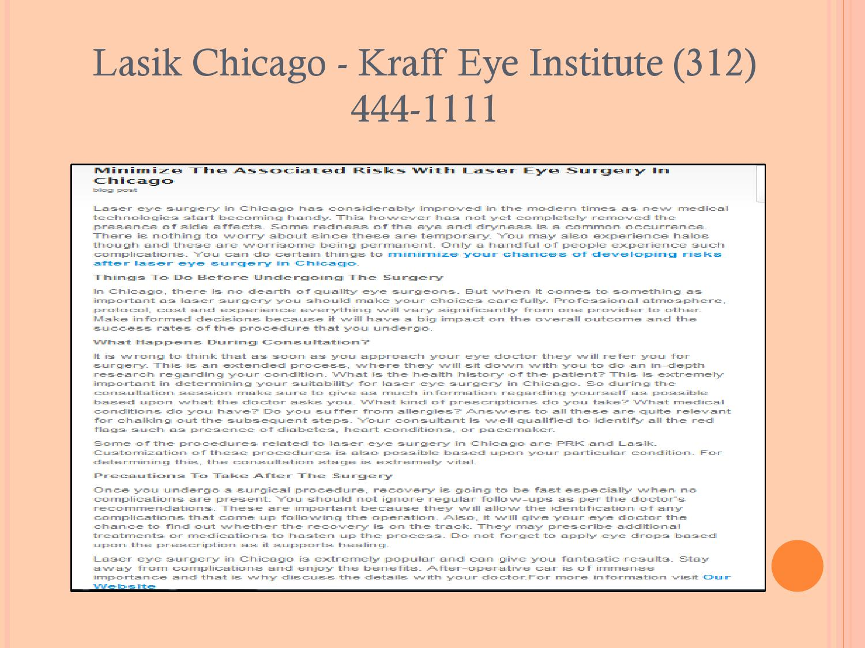 Issuu Retinal Surgery Chicago Kraff Eye Institute 312