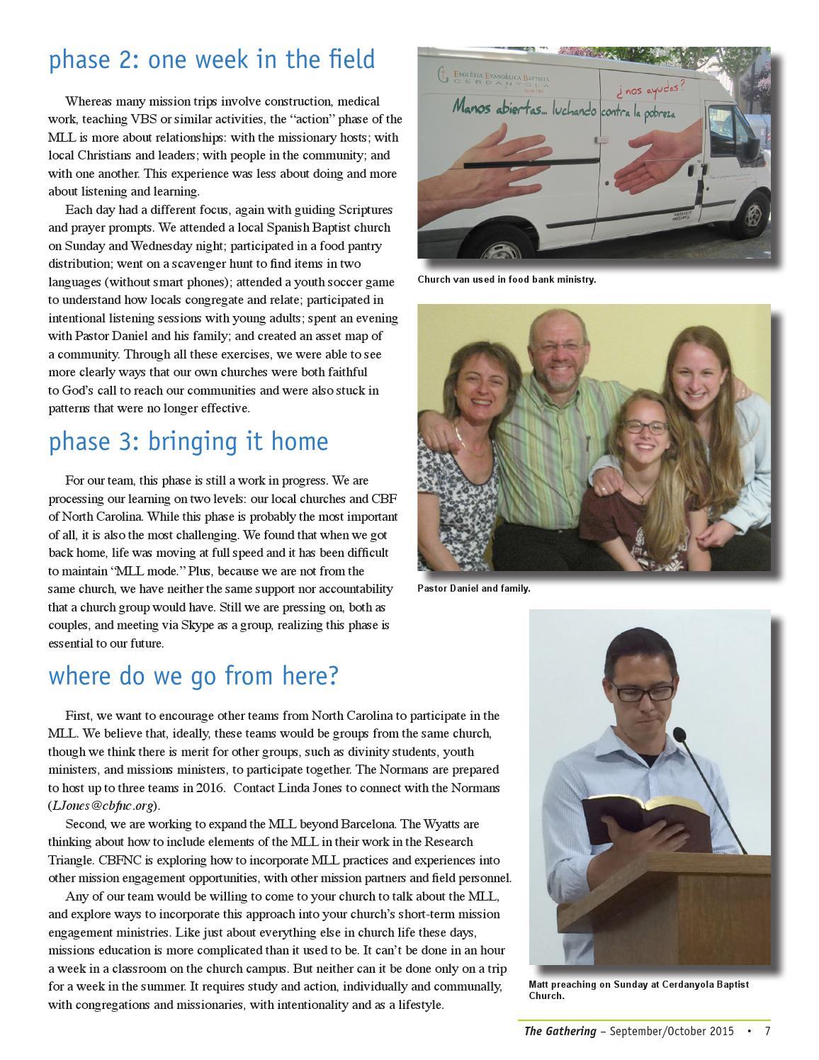 Collaborative Teaching Fellowship ~ Issuu cbfnc september october magazine by