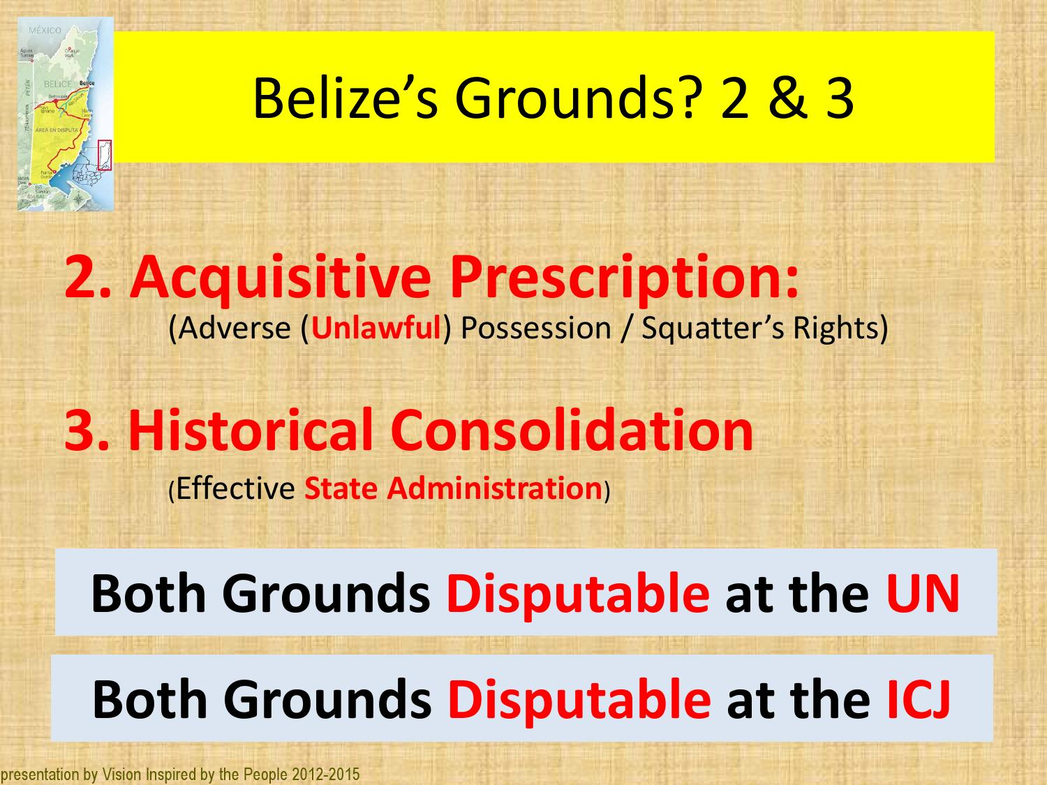 Issuu why we shouldn 39 t go to the icj by leslie tech belize - Prescription acquisitive terrain ...