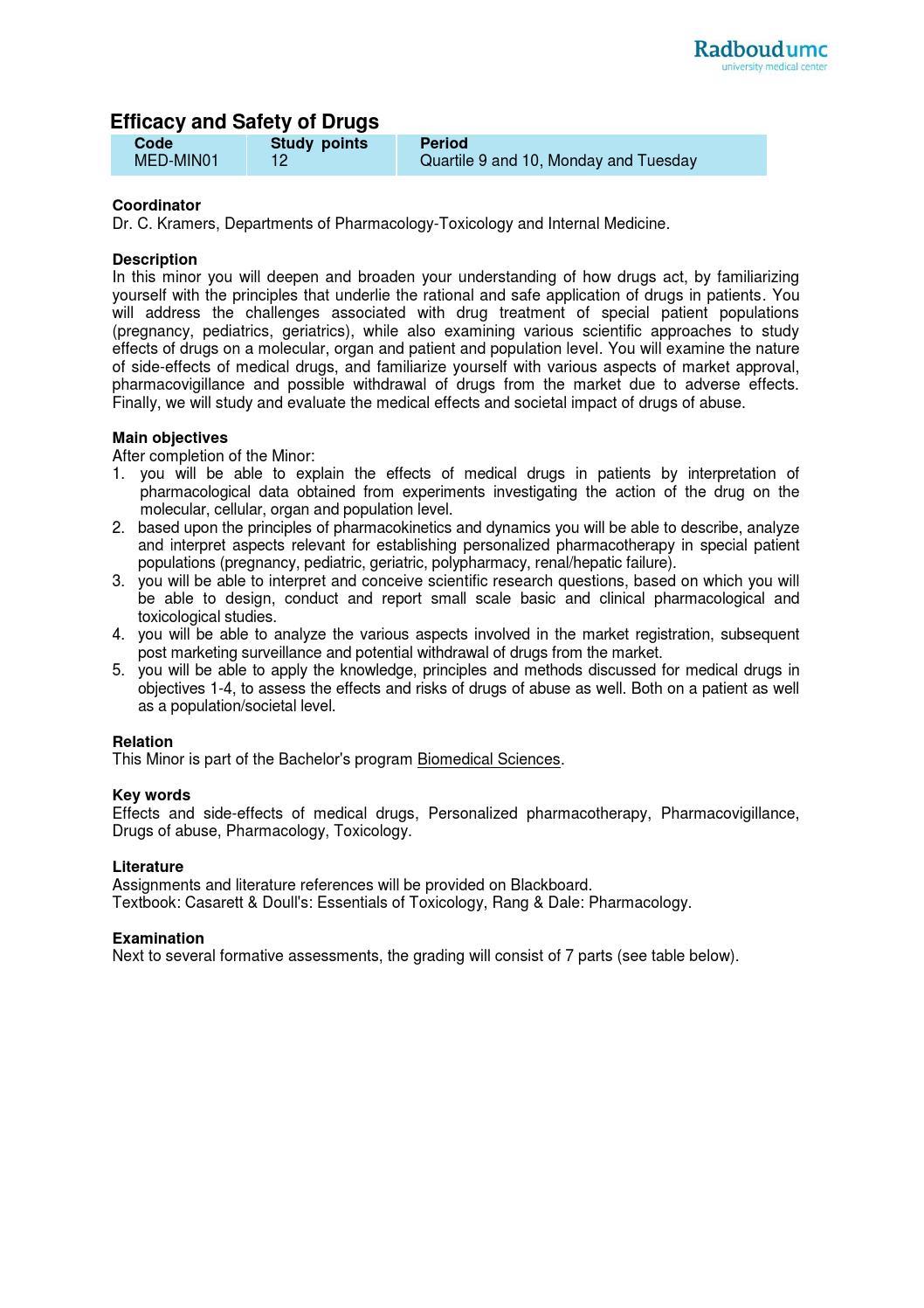 Radboudumc (bio)medical minors