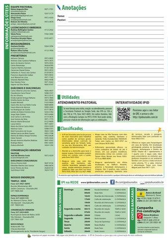 Boletim Informativo do dia 13 de setembro de 2015