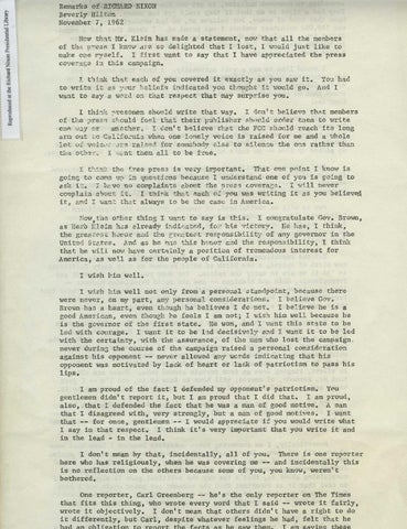 1962 last press conference, Page 1