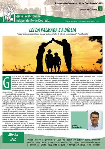 Boletim Informativo do dia 11 de outubro de 2015