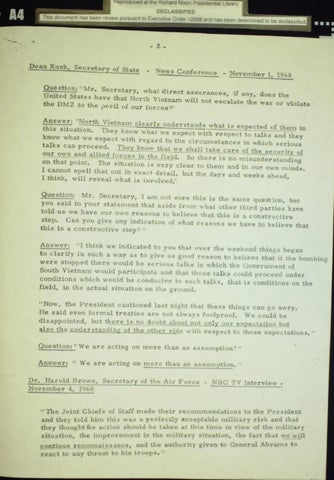 Johnson bomb halting statement october 31, 1968, Page 2