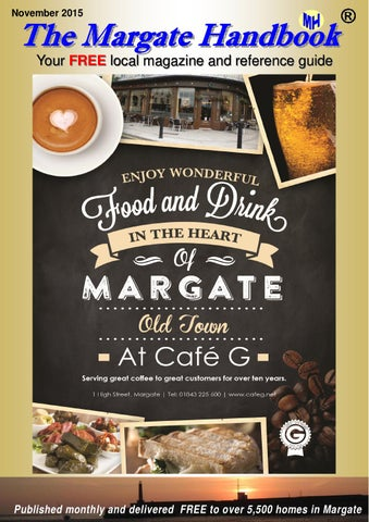 November Front Cover of Margate Handbook