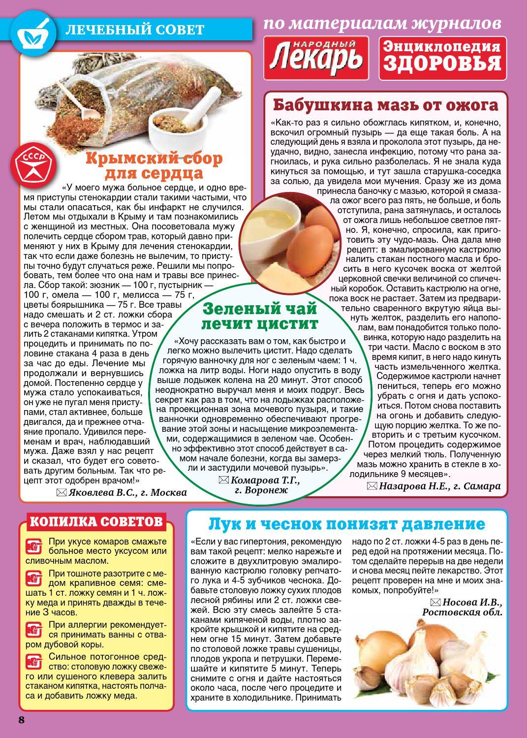 Рецепты для лечения стенокардии