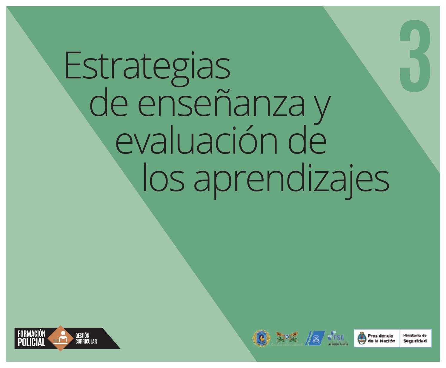 3 estrategias de ense anza y evaluaci n de los for Ministerio de ensenanza