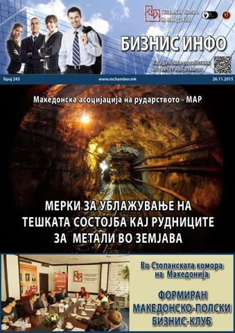 Бизнис ИНФО број 245, 26.11.2015