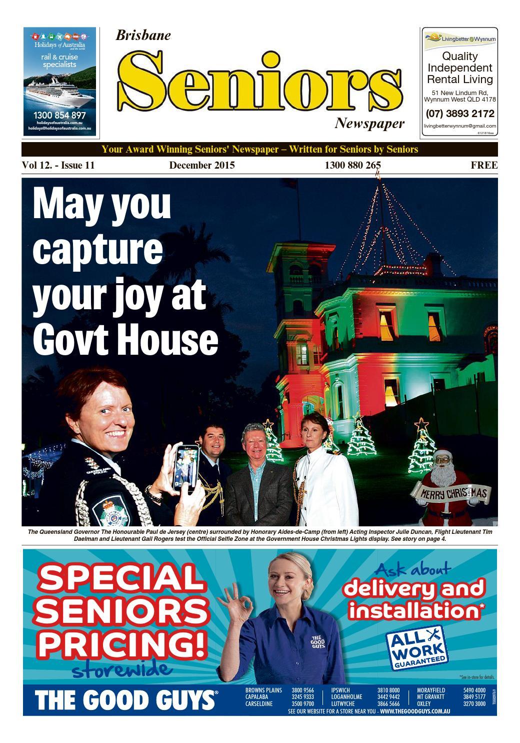 Seniors Newspaper, Brisbane, December, 2015 by seniors