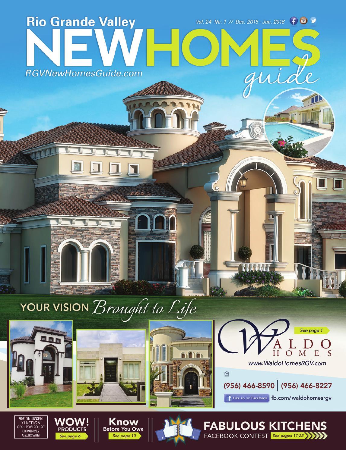 Rgv new homes guide vol 24 1 dec 39 15 jan 39 16 by rgv for Home builders guide