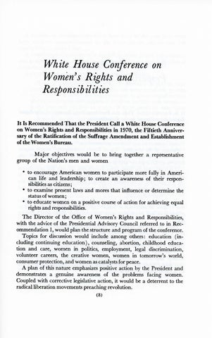 A Matter of Simple Justice - Report of the President's Task Force on Women's Rights, Page 12
