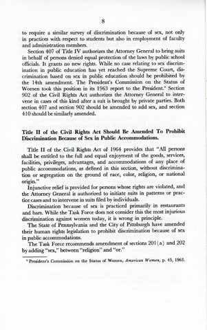 A Matter of Simple Justice - Report of the President's Task Force on Women's Rights, Page 17