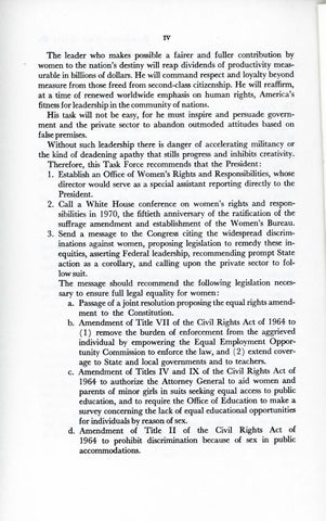 A Matter of Simple Justice - Report of the President's Task Force on Women's Rights, Page 4