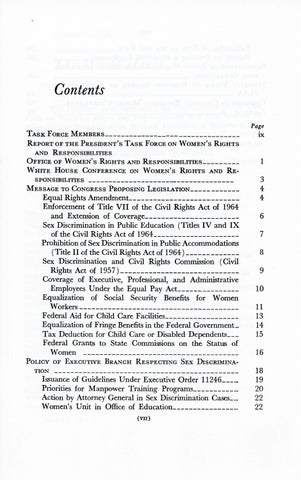 A Matter of Simple Justice - Report of the President's Task Force on Women's Rights, Page 7