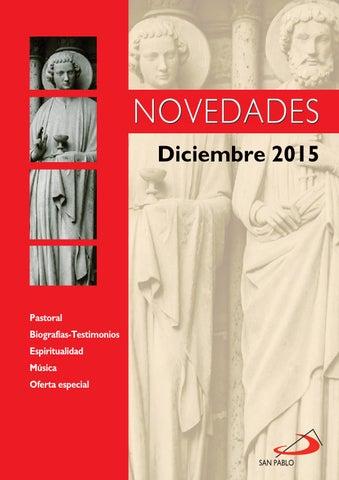 Boletín de Novedades Editorial San Pablo España - Diciembre 2015