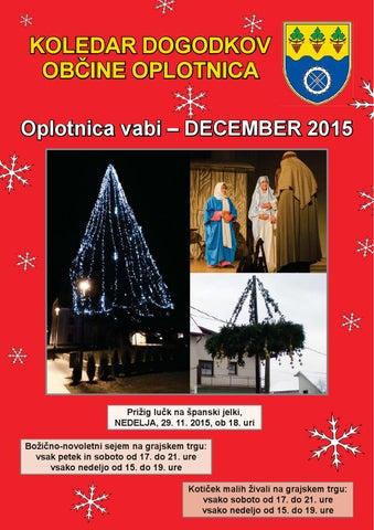 Koledar prireditev občine Oplotnica december 2015