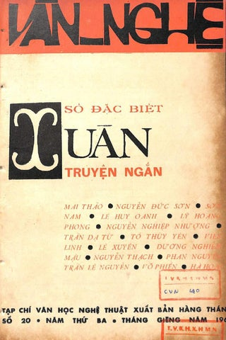 Tạp chí VĂN NGHỆ - số xuân 1963 - số đặc biệt truyện ngắn -- huyvespa