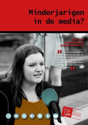 Minderjarigen in de media? Tips voor journalisten en programmamakers