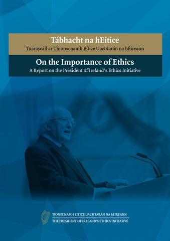 Tábhacht na hEitice - Tuarascáil ar Thionscnamh Eitice Uachtarán na hÉireann
