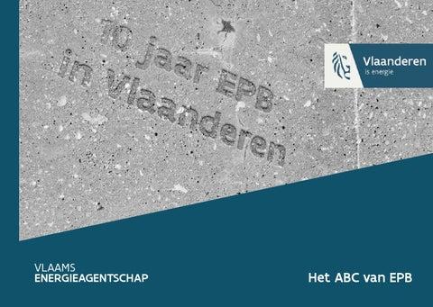 10 jaar EPB in Vlaanderen  - het ABC van EPB