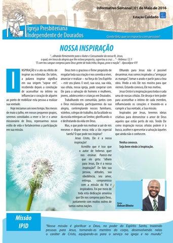 Boletim Informativo IPID  01 de Maio de 2016