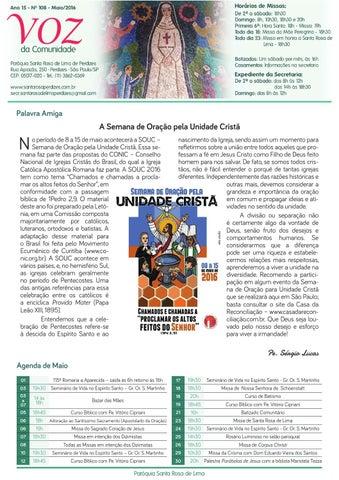 [Jornal Santa Rosa de Lima – Maio/2016]