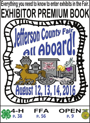 Jefferson County Fair Exhibitor's Guide 2016