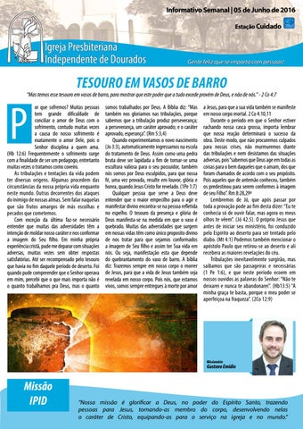 Boletim Informativo IPID     05 de Junho de 2016
