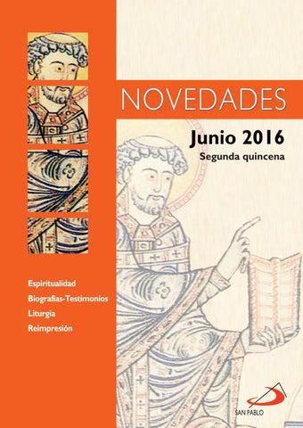 Boletín de Novedades Editorial San Pablo España - Junio 2016 (2ª quincena)