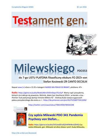 Testament gen milewskiego pdo353 do 7 go listu platona filozoficzny ekskurs fo zech von stefan kosie cover