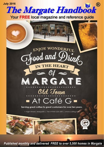 July Front Cover of Margate Handbook