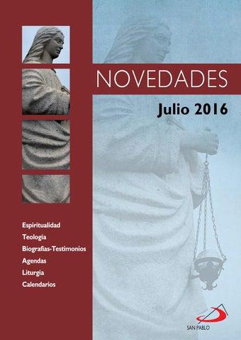 Boletín de Novedades Editorial San Pablo España - Julio 2016