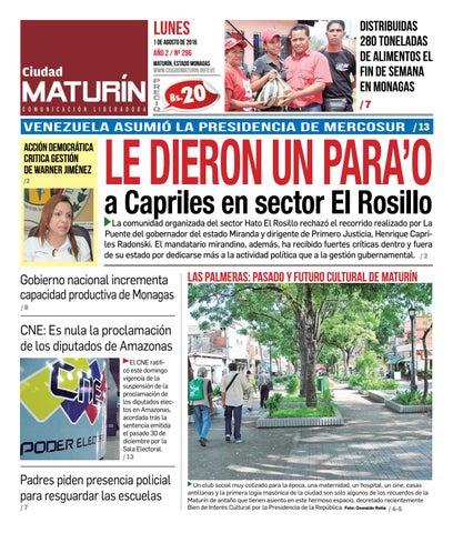 Ciudad Maturín edición 296