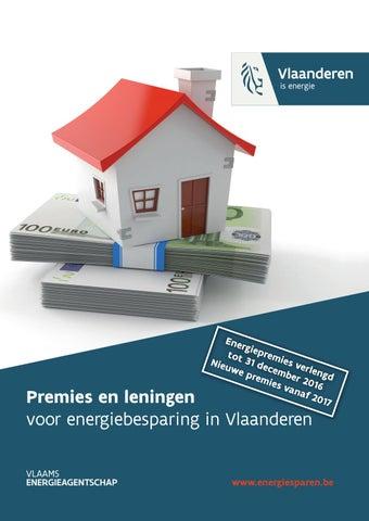 Premies en leningen voor energiebesparing in Vlaanderen 2016