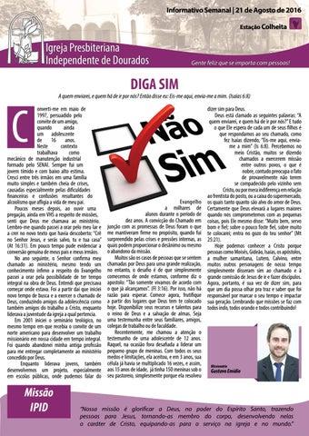 Boletim Informativo  IPID    21 de agosto de 2016