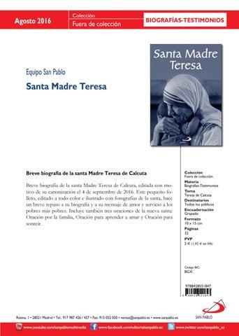 Boletín de Novedades Editorial San Pablo España - Agosto 2016