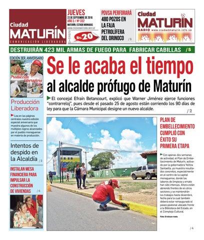 Ciudad Maturín edición 332 ANIVERSARIA