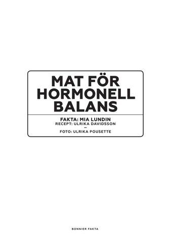 mat för hormonell balans mia lundin