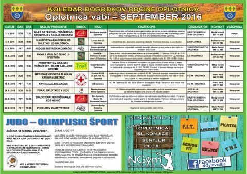 Koledar prireditev občine Oplotnica september 2016