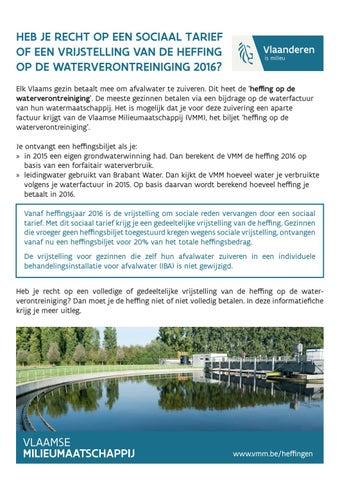 Hebt u recht op een vrijstelling van de heffing op de waterverontreiniging 2015?