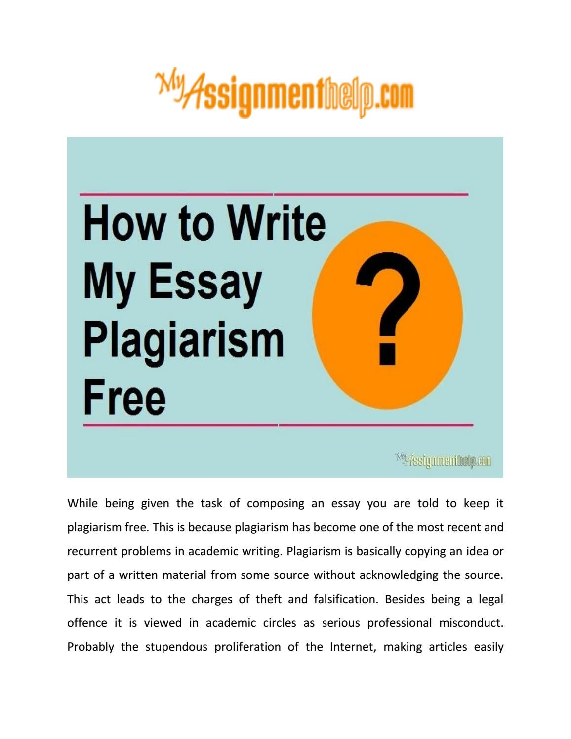 check your own essay for plagiarism