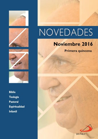 Boletín de Novedades Editorial San Pablo España - Noviembre 2016 (1ª quincena)