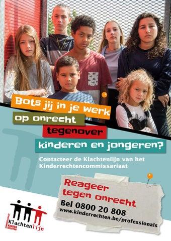 Bots jij in je werk op onrecht tegenover kinderen en jongeren? (affiche)